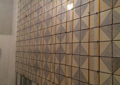 tile floor installation-tiled wall