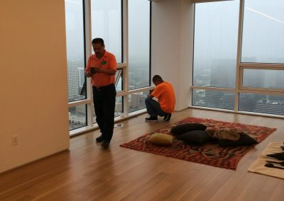 hard floor installation-room with glass window