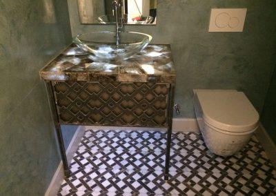 tile floor installation-toilet