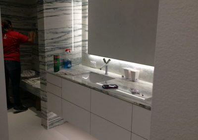 tile floor installation-kitchen with a sink