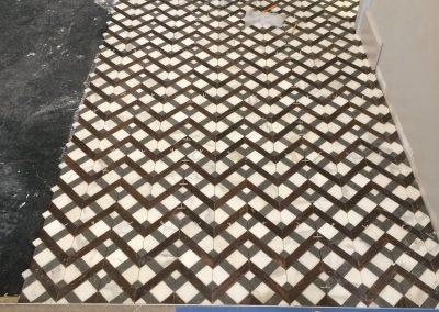 tile floor installation-renovation room