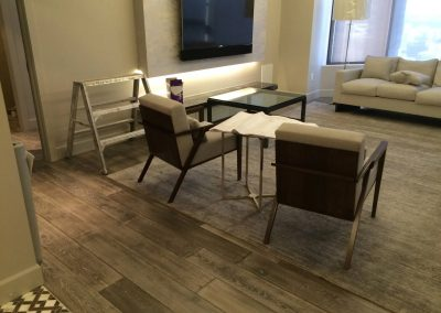 hard floor installation-view of a living room