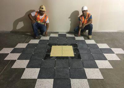 Diamond Style Tile floor installation in Houston TX