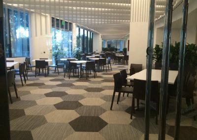 tile floor installation-restaurant