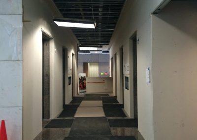 Tile flooring installation on pathways