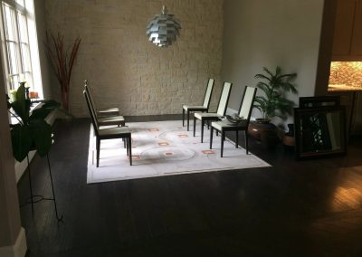 hard floor installation-room with chairs