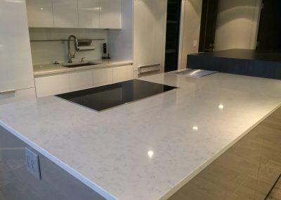 tile floor installation-kitchen sink
