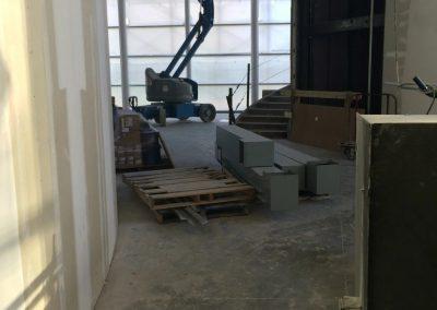 tile floor installation-building pathway area