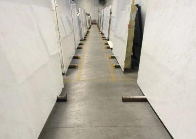 tile floor installation-gymnasium construction