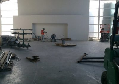 tile floor installation-large space facility