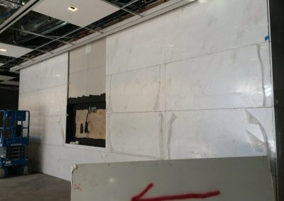 tile floor installation-white wall