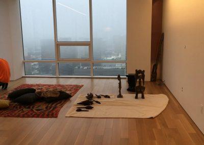 hard floor installation-bedroom with a wooden floor