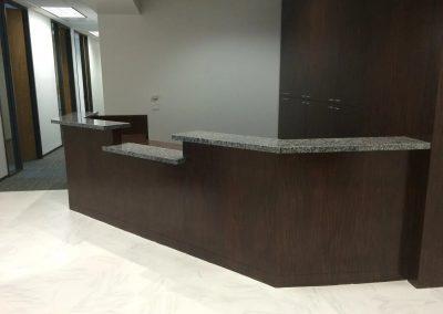 tile floor installation-hotel room
