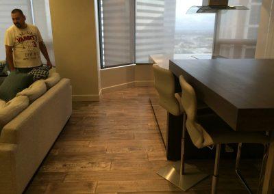 hard floor installation-living room