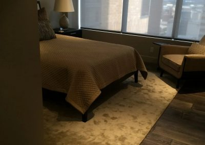 hard floor installation-hotel room