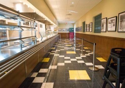 tile floor installation-counter room