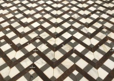 tile floor installation-floor close up look