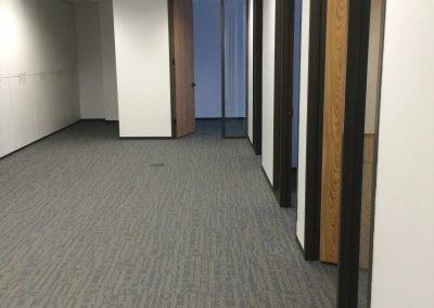 hard floor installation-close up hotel room