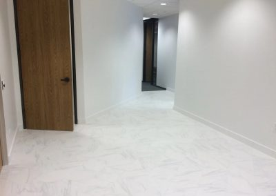 tile floor installation-white wall and tile