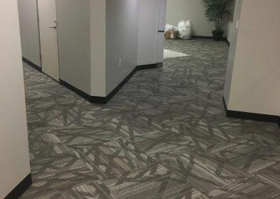 tile floor installation-hotel room pathway