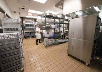 tile floor installation-commercial kitchen
