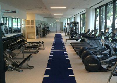 carpet installation-fitness room