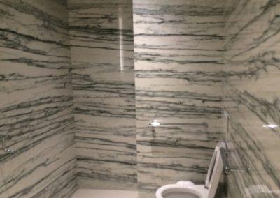 tile floor installation-comfort room