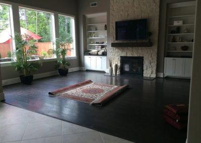 carpet installation-living room with large window.