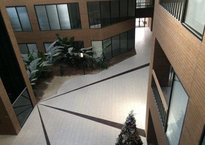 tile floor installation-outside area of hotel