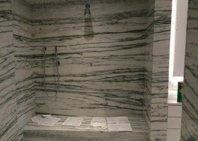 tile floor installation-small shower room