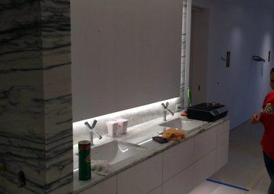 tile floor installation-clean comfort room