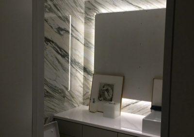 tile floor installation-restroom with frames