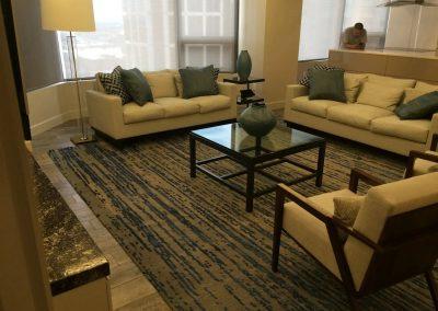 carpet floor installation-organized living room