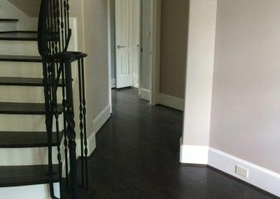 hard floor installation-through the room
