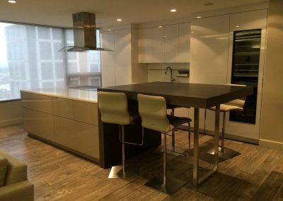 hard floor installation-kitchen with a table in a room