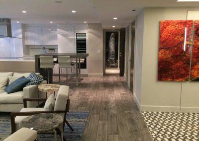 hard floor installation- well-designed living room