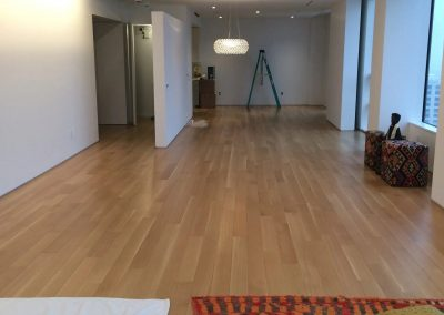hard floor installation-large room with a wood floor
