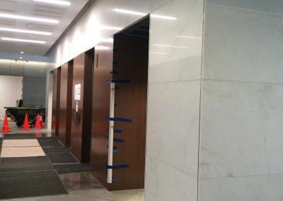 tile floor installation-inside of a building