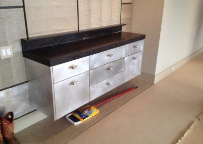hard floor installation-room with cabinet