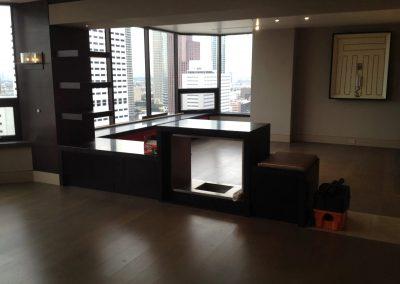 hard floor installation-large empty room with shiny floors