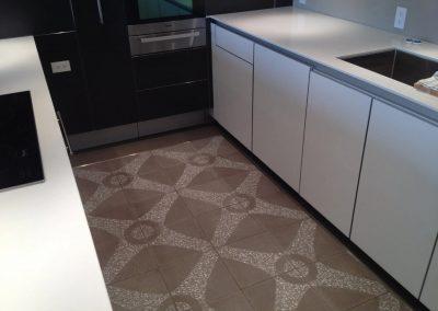 tile floor installation-kitchen with a tiled floor